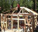 neu errichtete Fachwerkhäuser